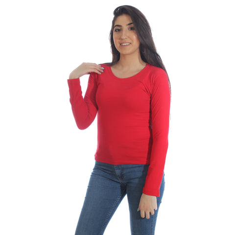 long sleeve basic top -5944