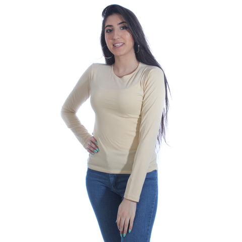 long sleeve basic top -5940