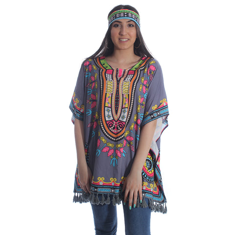 poncho beach cover  t- shirt -5958
