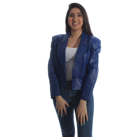 genuine leather jacket - Indigo -5952
