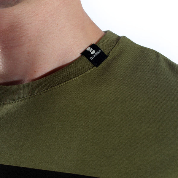 Men T-shirt- olive green / made in Turkey -3318