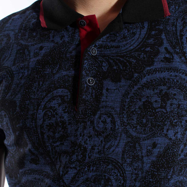 Men's polo t shirt styles- navy / made in Turkey -3365