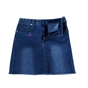 women denim short skirt -5843