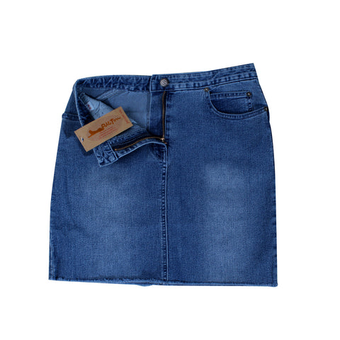 women denim short skirt -5841