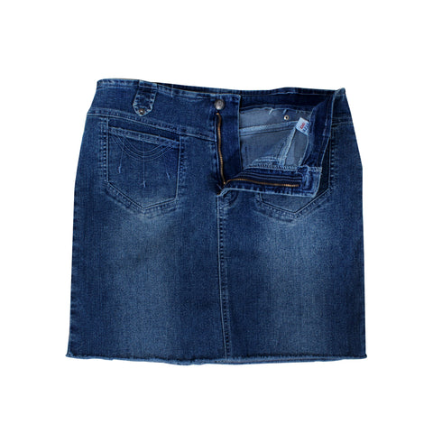 women denim short skirt -5839