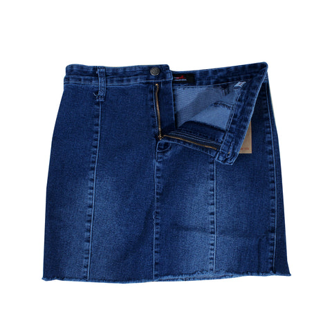 women denim short skirt -5842