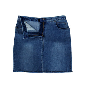 women denim short skirt -5840