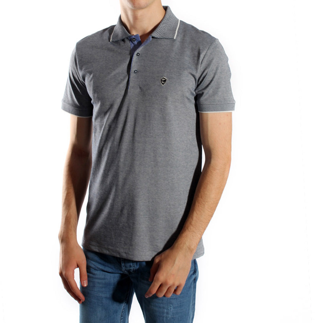 Men's polo t shirt styles- gray / made in Turkey -3371