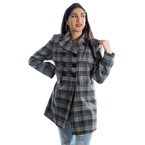 """Checked coat "" -5990"