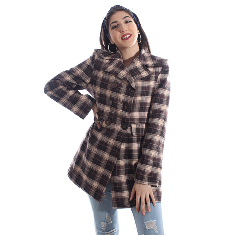 """Checked coat "" -5989"