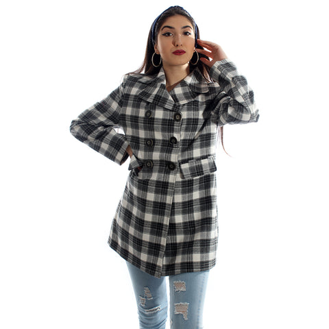 """Checked coat "" -5988"