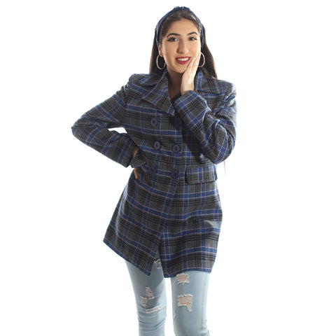 """Checked coat "" -5987"