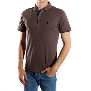 Men's polo t shirt styles- brown / made in Turkey -3370