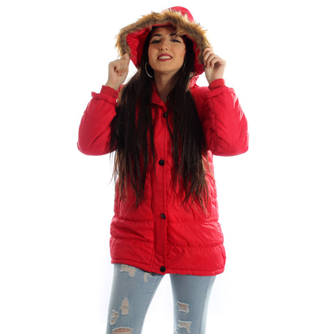 Women jacket/ colour red -4036