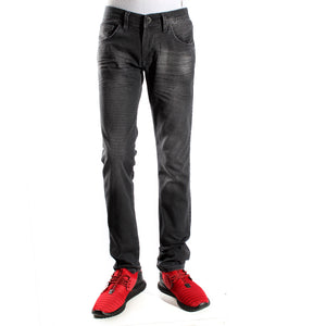Denim black Pants/ made in turkey -3373
