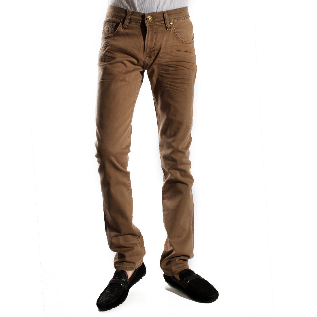 Denim khaki Pants/ made in turkey -3375