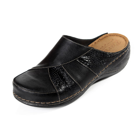 women elegant slipper / genuine leather 100 % -6111