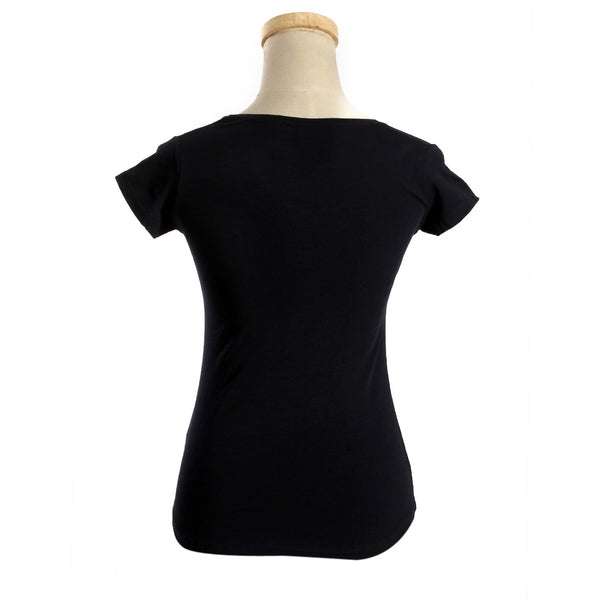 women t-shirt/ navy/ cotoon + lycra/ made in Turkey -3406