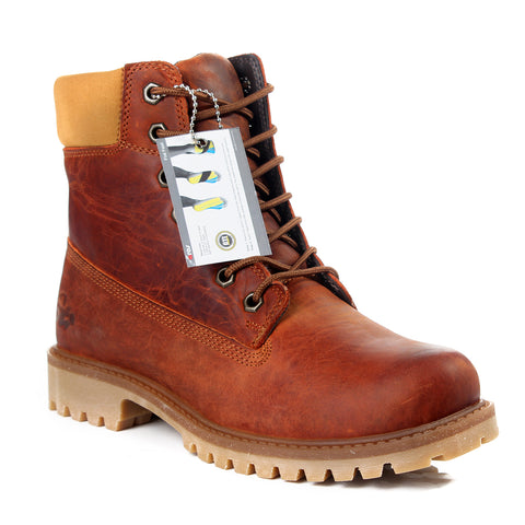 Safety Boots design / 100 % genuine leather -6023