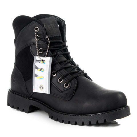 Safety Boots design / 100 % genuine leather -6028