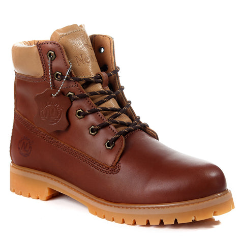 Safety Boots design / 100 % genuine leather -6063