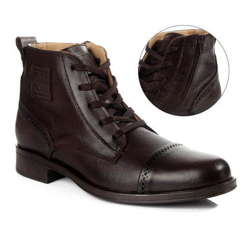 Men winter shoes / 100 % genuine leather -6058