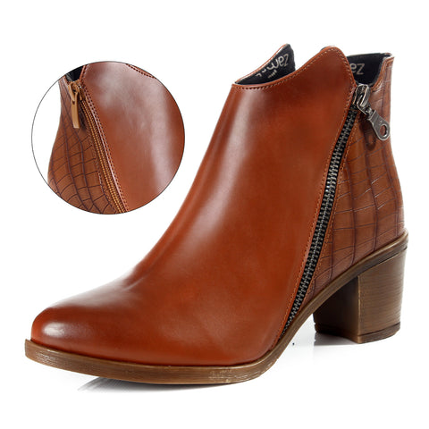 Women winter boots / genuine leather 100 % -6094