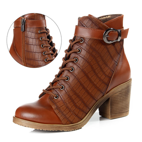 Women winter boots / genuine leather 100 % -6100