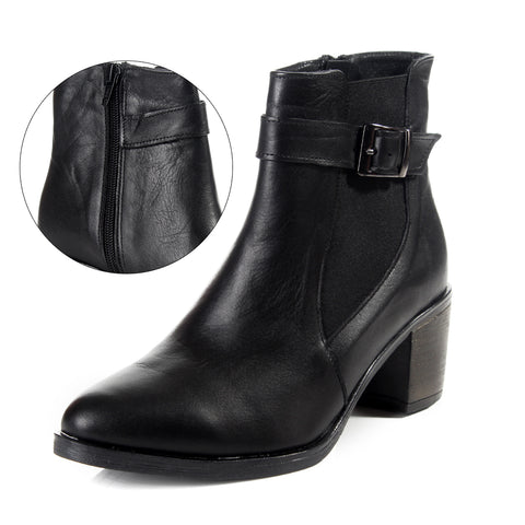 Women winter boots / genuine leather 100 % -6092