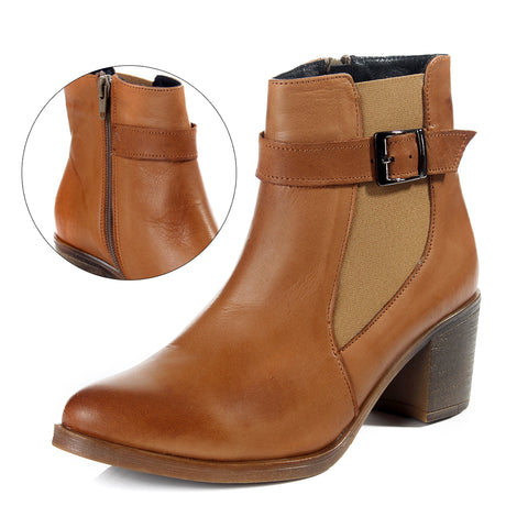 Women winter boots / genuine leather 100 % -6093