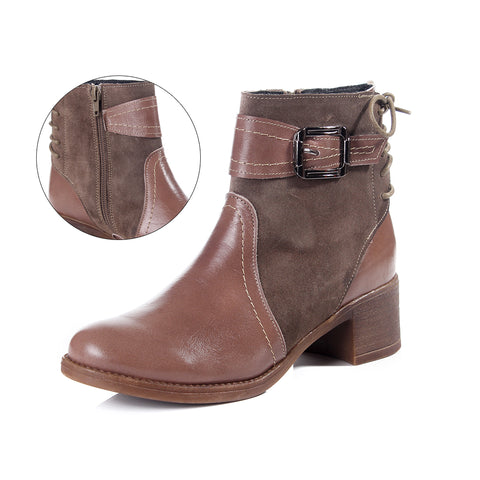 Women winter boots / genuine leather 100 % -6080