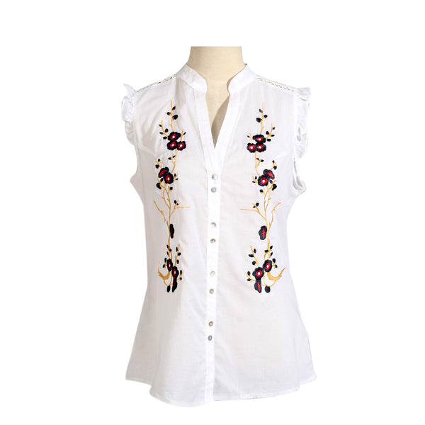 women shirt/ white/ cotoon/ made in Turkey -3456