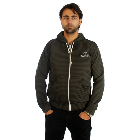Original Zaynaty Embroider Full Zip Up Stylish Hoodies -6009