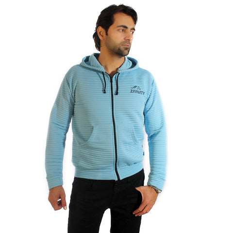 Original Zaynaty Embroider Full Zip Up Stylish Hoodies -6007