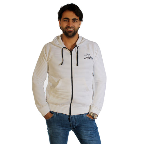 Original Zaynaty Embroider Full Zip Up Stylish Hoodies -6004