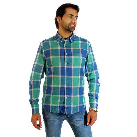 Men shirt- colored karohat  / made in Turkey -3307