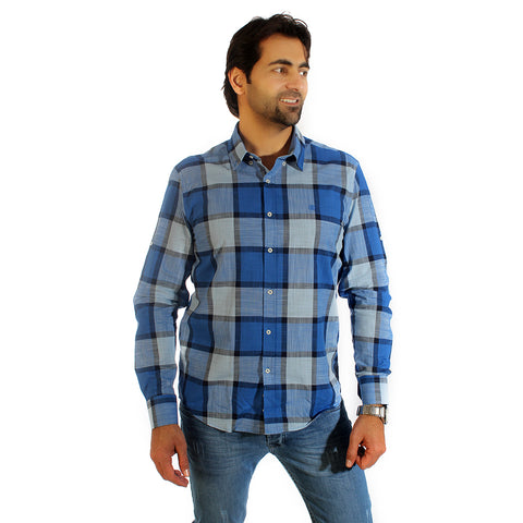 Men shirt- colored karohat  / made in Turkey -3308