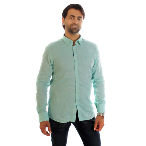 Men shirt- light terqwaz/ made in Turkey -3309