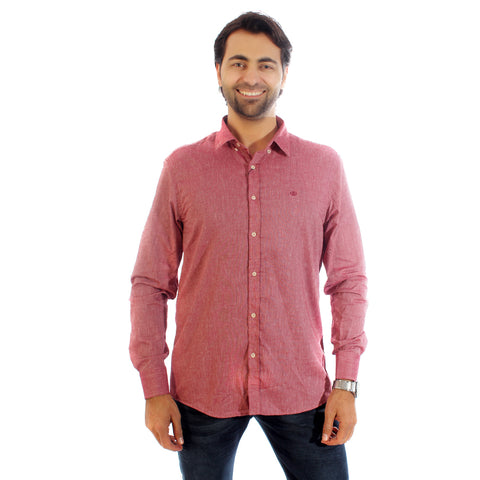 Men shirt- light red/ made in Turkey -3311