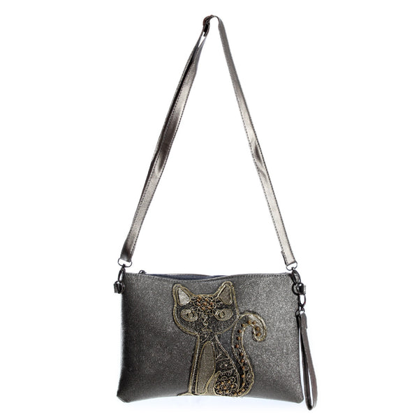 clutches/ gray/ 23 cm * 20 cm / made in turkey -3477