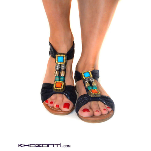 Zayanty Navy Sandals -296