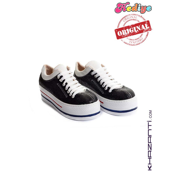 HEDIYE KIDS BLACK SHOES -305