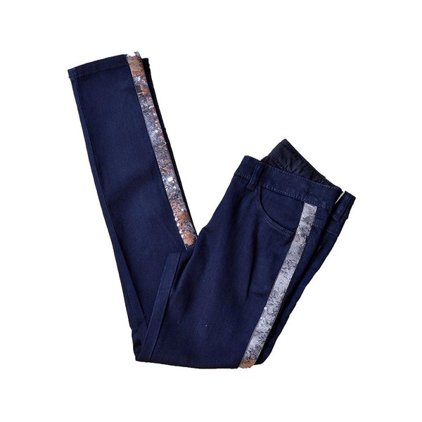 DARK NAVY GIRL'S JEANS