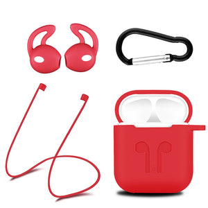 Red New Airpod protective Silicone Case