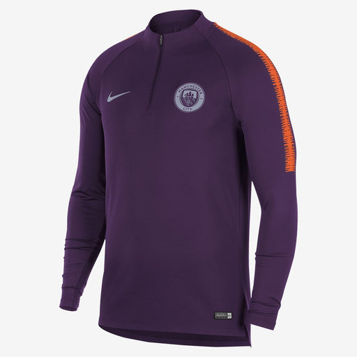 Nike Manchester City Mens Drill Top   Night Purple Safety Orange