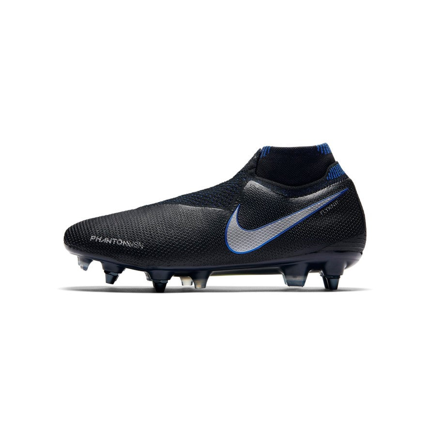Nike Hypervenom Phantom vsn Elite Df Sg-Pro Anti Clog Black/Metallic Silver-Racer Blue