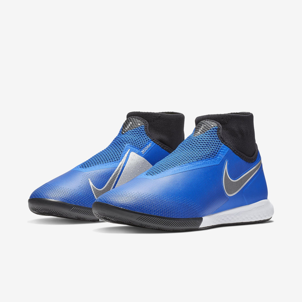 Hypervenom React Phantom Vision Pro Dynamic Fit Ic Racer Blue/Black-Metallic Silver-Volt