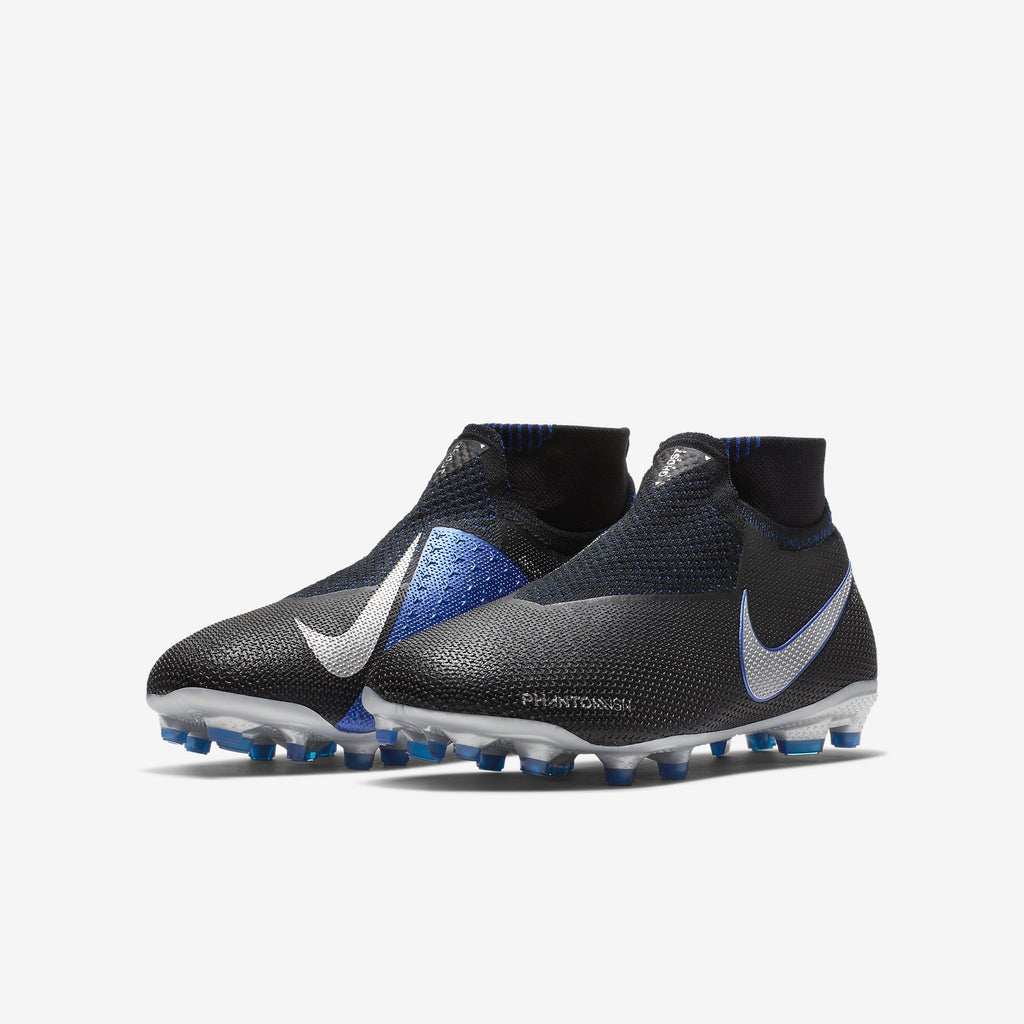 Hypervenom Phantom Vision Elite Df/Fg/Mg  Black/Metallic Silver/Racer Blue
