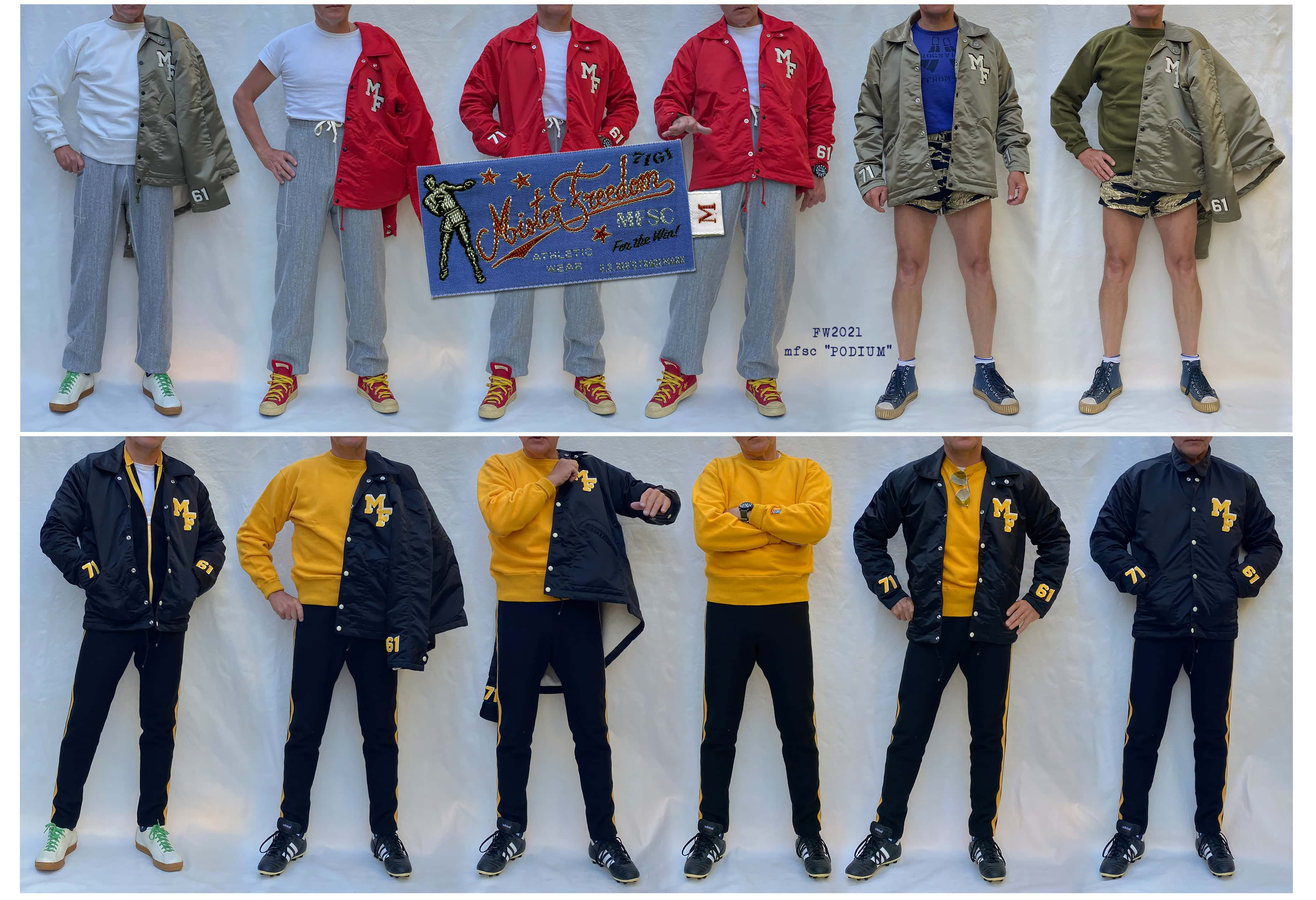 """Mister Freedom®""""PODIUM"""" Sportswear Collection Made In Japan by Sugar Cane Co."""