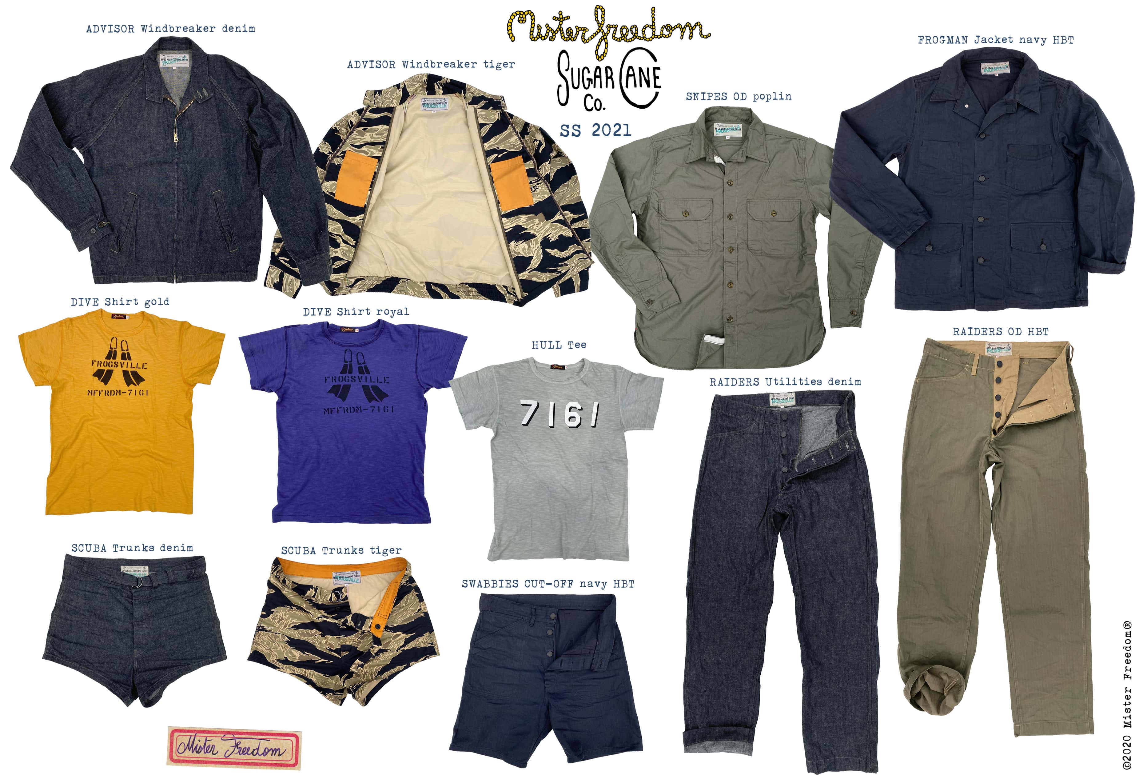 Mister Freedom®x Sugar Cane Co. SS21 Frogsville Collection